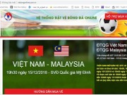 "Sat ""gio G"", VFF phat hien website gia mao ban ve online tran Viet Nam - Malaysia"