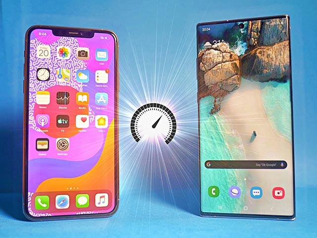"""do pin"" iphone 11 pro max va galaxy note 10+: ai ben bi hon? hinh anh 1"