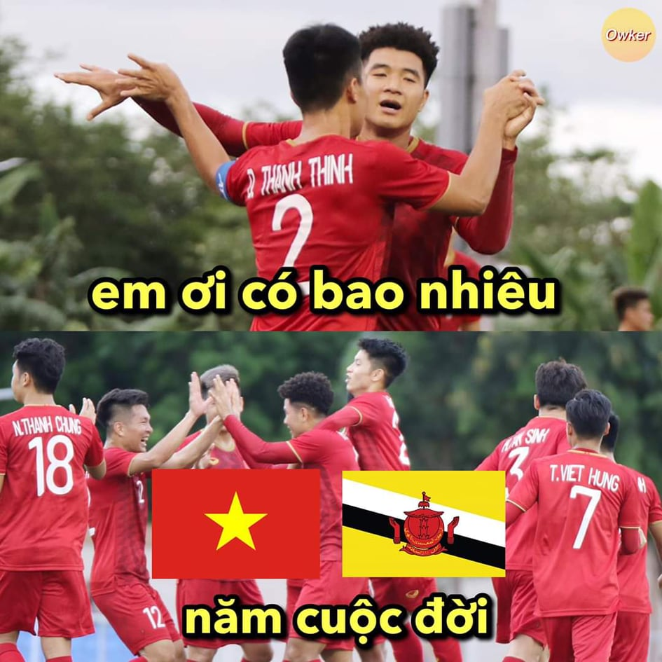 """anh che """"cuoi vo bung"""" ve u22 viet nam thang u22 brunei 6-0 hinh anh 3"""