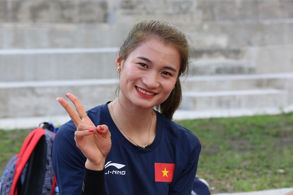 """anh - clip: cac co gai vang dien kinh tap luyen cho """"chien dich sea games"""" hinh anh 1"""