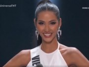 Hoang Thuy noi tieng Anh  & quot;cuc chat & quot; van truot top 10 Miss Universe 2019